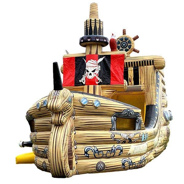 Piratenschiff Mega mit Rutsche mieten
