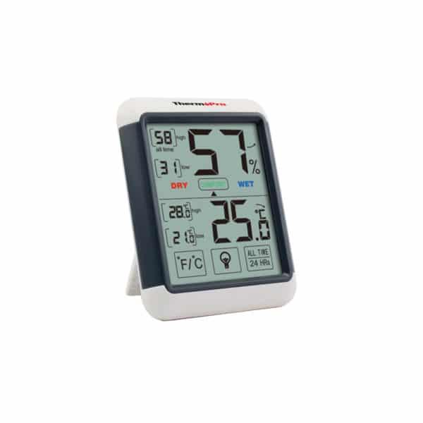 Thermometer für Veranstaltungen. Misst Luftfeuchtigkeit, Temperatur