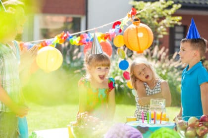 Children and birthday party